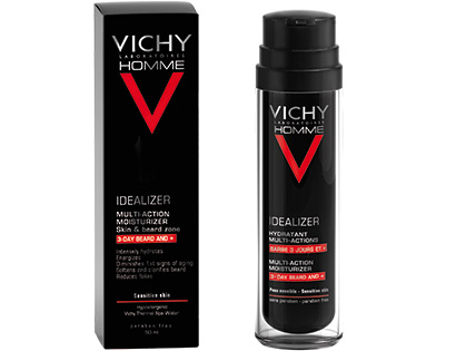VICHY HOMME - IDEALIZER HYDRATANT MULTI-ACTIONS BARBE 3 JOURS ET +