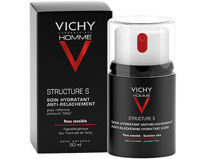 VICHY HOMME - STRUCTURE S. Soin hydratant. Raffermissant
